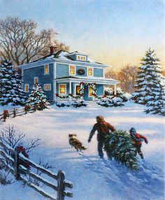 Check out the deal on Raz 20 Inch Twinkling LED Lighted House Scene Print On Canvas at Battery Operated Candles