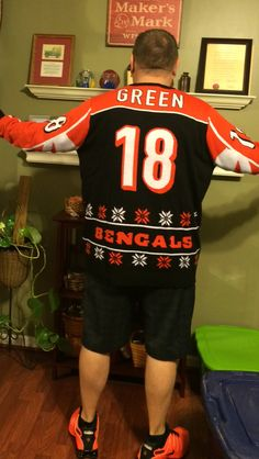 My ugly sweater Ugly Sweater, Sweaters, Cincinnati Bengals, Sports, Tops, Fashion, Hs Sports, Moda, Fashion Styles
