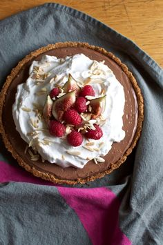 Mexican Chocolate Tart with Tequila in a Saltine-Graham Cracker Crust #recipe