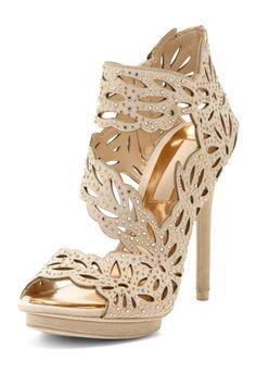 Rhinestone Embellished High Heel