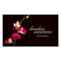 Elegant Orchid Designer Florist Business Card