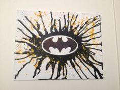 Batman Melted Crayon Art DIY Canvas :) by robindu
