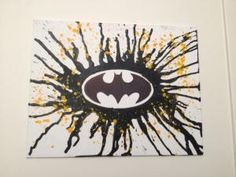Batman Melted Crayon Art DIY Canvas :) by robindu