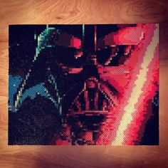 Star Wars Darth Vader perler portrait by _reconnu