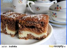 Tvarohové řezy - hrnečkové recept - TopRecepty.cz Sweet Cakes, Tiramisu, French Toast, Sweet Tooth, Health Fitness, Pudding, Sweets, Food And Drink, Baking