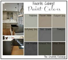 Loving Fieldstone color. Bottom cabinets with white top and a coordinating design in the back.