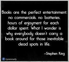 Stephen King on books