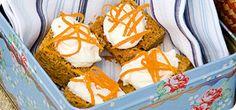 Carrot cake squares – Recipes – Slimming World Slimming World Carrot Cake, Slimming World Deserts, Slimming World Puddings, Slimming World Vegetarian Recipes, Slimming World Recipes, Healthy Cake, Healthy Treats, Healthy Eating, Healthy Recipes