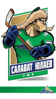 100%™ KHL Ufa Salavat Yulaev Nhl Logos, Hockey Logos, Sports Logos, Sports Teams, Kontinental Hockey League, Nfl, Hockey World, Sports Art, Portfolio