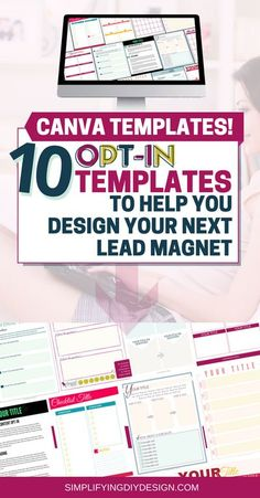 Do you want an easier way to grow your email list with irresistible opt-in freebies, lead magnets, and content upgrades? Now you can with these Canva templates! Generate passive income and make money blogging with the right design tools - Canva templates! These are perfect for beginner bloggers or anyone looking to monetize their blog! Design for bloggers | canva tips | how to use canva | digital products | email marketing | list building | blogging for beginners #canva #blog… Tool Design, Diy Design, Make Money Blogging, How To Make Money, Lead Magnet, Thing 1, Email List, Blogging For Beginners, Social Media Tips