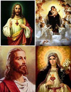 Lot Of 12 Religious Jesus Mary Fabric by CraftyDesignNBargain, $12.99
