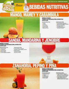 Cocinas y Recetas: Bebidas nutritivas