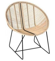 Effortless Design Comes Naturally With This Round Rattan Chair. We Love The  Light Finish And