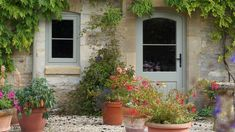 From sliding sashes to casement designs, traditional windows are integral to the character of an older property. We look at how to choose the best windows for a period home Country Front Door, Country Patio, Cottage Front Doors, Cottage Windows, Cottage Door, Old Cottage, Victorian Cottage, House Windows, Cottage Style