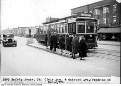 Toronto's Historic Transportation Vehicles- Streetcar, St.Clair and Oakwood 1928 Cool Photos, Amazing Photos, Light Rail, Vintage Photography, Historical Photos, Toronto, Transportation, Past
