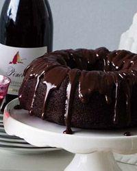 Double-Chocolate Bundt Cake with Ganache Glaze // More Fantastic Chocolate Desserts: http://www.foodandwine.com/slideshows/chocolate-desserts #foodandwine