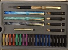 Staedtler Calligraphy Set. $35.00 + $10.00 s/h to USA and Canada only. Calligraphy Set, Fountain Pen, Canada, Usa, Handmade, Hand Made, Handarbeit, U.s. States