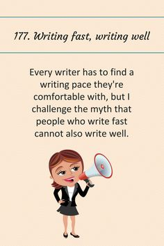177: Writing fast, writing well.