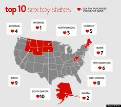 Sex Toy Sales Per Capita Highest In These Ten States, According To Manufacturer