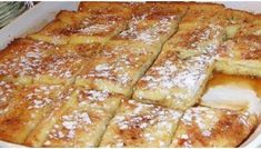 Ingredients : cup melted butter stick) 1 cup brown sugar 1 loaf Texas toast 4 eggs 1 cup milk 1 teaspoon vanilla Powdered sugar for sprinkling Directions : Melt butter in microwave & add brown sugar…. Pour butter/sugar mix into Best French Toast, French Toast Bake, French Toast Casserole, Breakfast Casserole, Breakfast Dishes, Breakfast Recipes, Breakfast Ideas, School Breakfast, Breakfast Bars