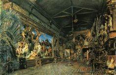 The studio before the auction - Rudolf von Alt