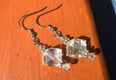 These stunning crystal earrings from Simply Charmed Jewelry are uniquely handcrafted and full of sparkle. The crystal beads have a unique shape and are Nickel Free too! Crystal Earrings, Crystal Beads, Glass Beads, Crystals, Handmade Necklaces, Handcrafted Jewelry, Unique Jewelry, Sparkly Jewelry, Beautiful Earrings
