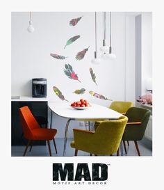 Wall Stickers – WALLSTICKER :::feathers SET:::size M – a unique product by Motif-Art-Decor on DaWanda