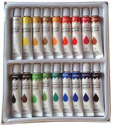 12 PC Acrylic Paint Set Professional Artist Painting Pigment Tubes for sale online Colores Faber Castell, Hight Light, Acrylic Paint Set, Acrylic Paint Bottles, Paint Tubes, Paint Supplies, Cute School Supplies, Paint Brands, Artist Painting