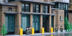 Fire Station : a LEGO® creation by Steven Asbury : MOCpages.com