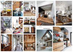 House redevelopment, interior moodboard