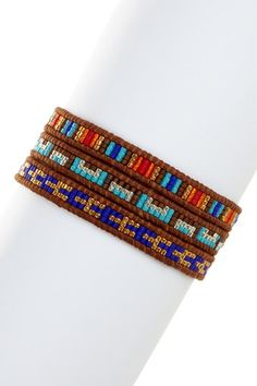 Multicolor Japanese Seed Bead Wrap Bracelet by Chan Luu on @HauteLook