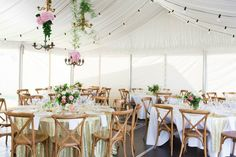 chandeliers and flowers #wedding #lighting