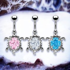"""♥ Throw Back Annie ♥ Shelley Sea Turtle Belly Bar 