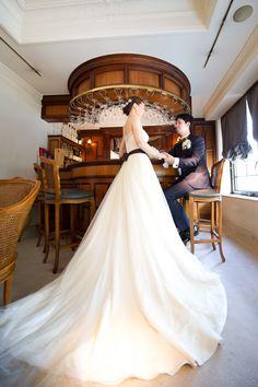 レストランひらまつにてウェディング♪ アーネラクロージングの素敵花嫁様♪
