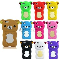 3d #colorful #teddy bear soft silicone rubber back case #cover for apple iphone 5,  View more on the LINK: 	http://www.zeppy.io/product/gb/2/311642931607/