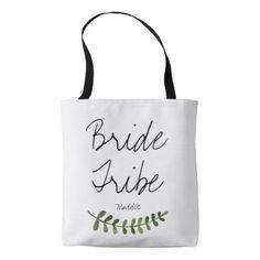 #bride - #Rustic Ombre Watercolor Forest Bride Tribe Tote Bag