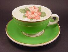 Vintage Greenbrier Rhododendron tea cup by Syracuse