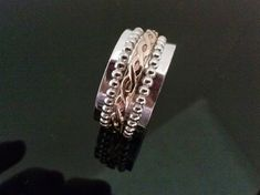 SPINNER  SILVER RING  Meditation Ring Gold Filled by StyleCenter, $75.00