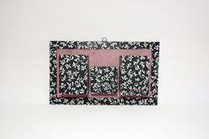 Cadre rangement, porte-crayons mural décoratif parme et noir : Décorations murales par les-fantaisies-vagabondes