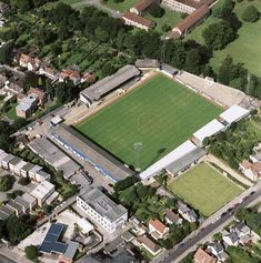 Poster Print-Manor Ground, Oxford Poster sized print made in the USA Oxford United, West Bromwich, Sports Photos, Urban Landscape, Aerial View, Gifts In A Mug, Photo Mugs, England, The Unit