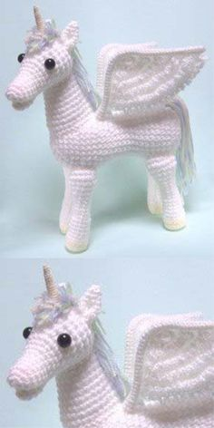 Amigurumi Pegasus Unicorn #amigurumi #amigurumipattern #crochettoy #knittingtoy #unicorn