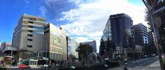 Blue #sky #panoramic #Ebisu #Tokyo #Japan 恵比寿駅前パノラマ 白い雲と青い空