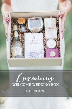 Luxurious Welcome Wedding Box gift idea #weddinggifts #welcomebox @weddingchicks