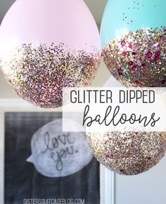 Glitter-dipped Balloon Tutorial for New Year's Eve!