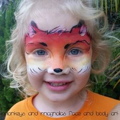 Fox face painting - Monkeys and Magnolias face and body art
