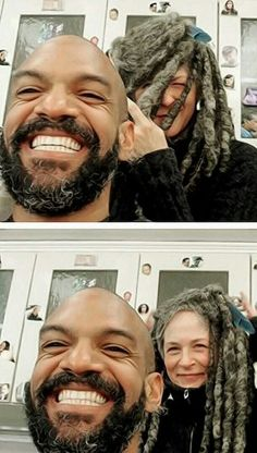 Melissa McBride and Khary Paytons (Carol and King Ezekiel) | The Walking Dead