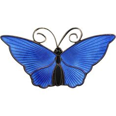 This is a gorgeous sterling, blue enameled David Andersen of Norway butterfly pin. This lovely brooch measures approx 2 1/8 wide by 1 inch tall  $125