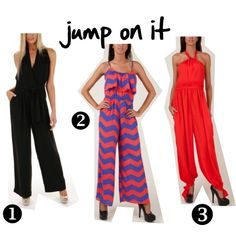 Jump into Jumpsuits! http://www.meinto.com/passion-for-fashion/2012/04/18/jump-into-jumpsuits/