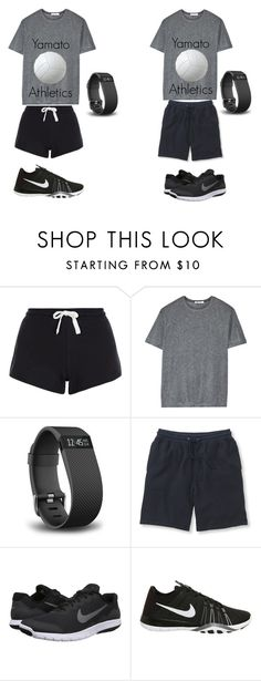 """Ship or Sink(Athletic Female & Male)"" by chibiblue ❤ liked on Polyvore featuring New Look, T By Alexander Wang, Fitbit, L.L.Bean and NIKE"