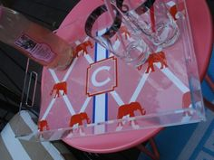 Personalized Lucite Tray www.lauradrodesigns.com